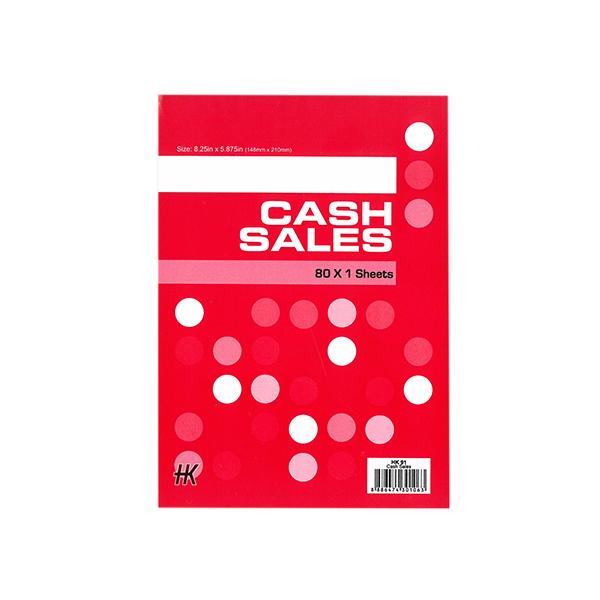 Cash Sales 1x80
