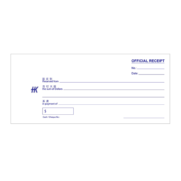 Official Receipt Book NCR – Hua Kee Paper Products Pte Ltd