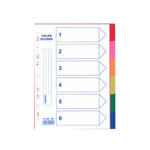 6c 6 colour plastic divider PP